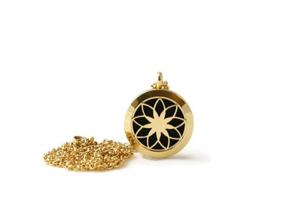 Petite Gold Stainless Steel DIffuser Necklace