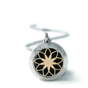 Petite Silver-Gold Lotus Stainless Steel Diffuser