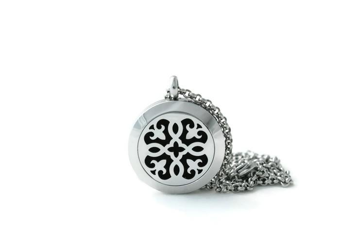 Silver Fleur-de-lis Stainless Steel Diffuser