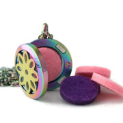 Girls Petite Rainbow Flower Diffuser Neckace