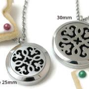 Petite Silver Fleur-de-lis stainless steel diffuser necklace