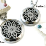Silver Mandala stainless steel diffuser necklace