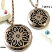 Chocolate Mandala stainless steel diffuser necklace