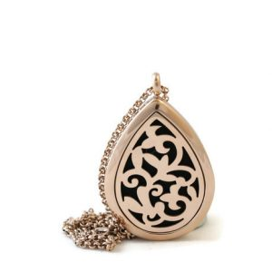 Rosegold Teardrop DIffuser Necklace