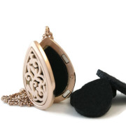 Rosegold Teardrop DIffuser Necklace