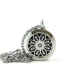 Petite Sliver Mandala Diffuser Necklace