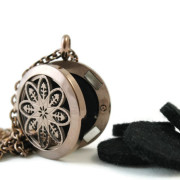 Chocolate Stainless Steel Diffuser Necklace