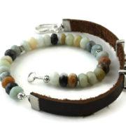 Amaonzite wrap diffuser bracelet