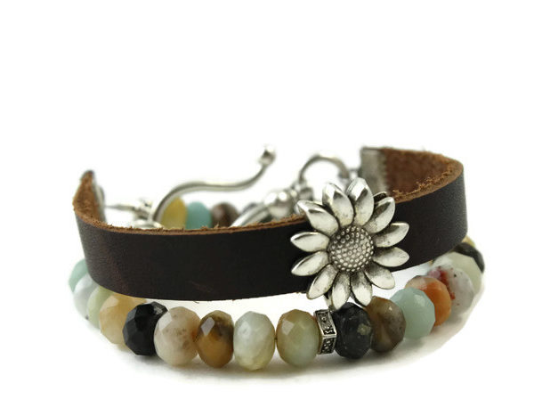 Amazonite Diffuser Wrap Bracelet