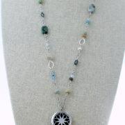 Semi Precious Stone Lotus Diffuser Necklace