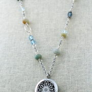 Long Mixed Semi Precious Stone Diffuser Necklace