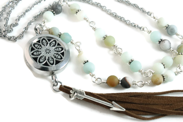 Stainless Steel Bohemian Diffuser Necklace