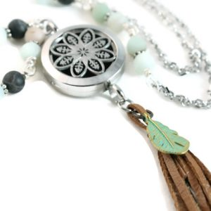 Amazonite Layering Diffuser Necklace
