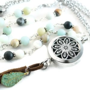 Amazonite Tassel Diffuser Necklace