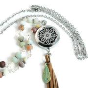 Beach Boho Beaded Diffuser Necklace