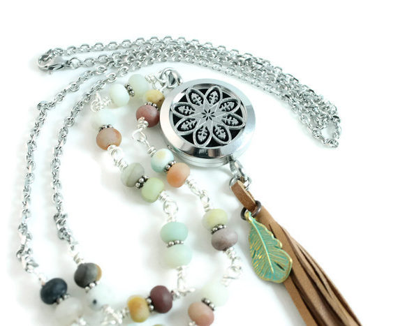 Beach Beaded Diffuser Necklace