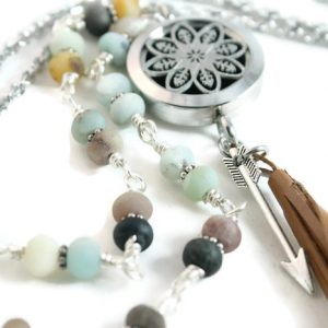 Beach Bohemian Diffuser Necklace