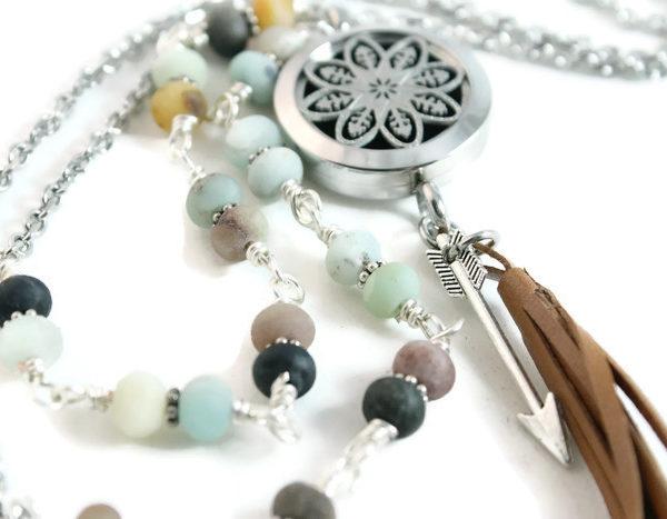 Beach Bohemian Diffuser Necklace