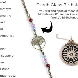 birthstone diffuser necklace