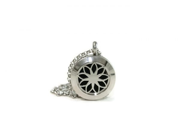 Mini Lotus Stainless Steel Diffuser Necklace
