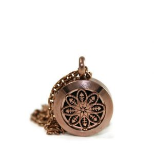 Mini Chocolate Mandala Stainless Steel Diffuser Necklace