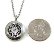 Mini Mandala Stainless Steel Diffuser Necklace