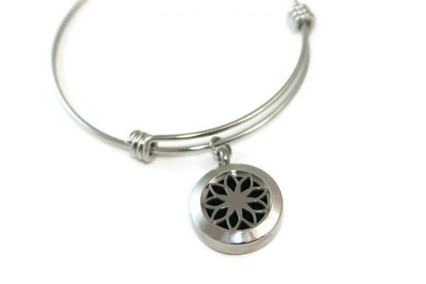 Lotus Stainless Steel Diffuser Bracelet
