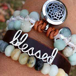 Leather Wrap Diffuser Bracelet Collection