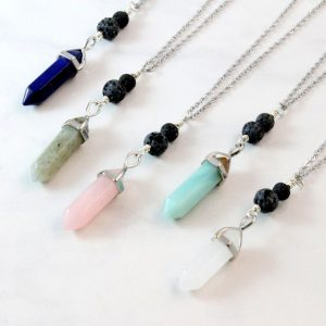 Gemstone Point Diffuser Necklace