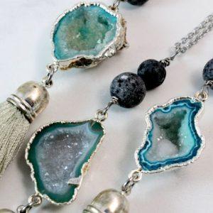 Gemstone Diffuser Necklaces