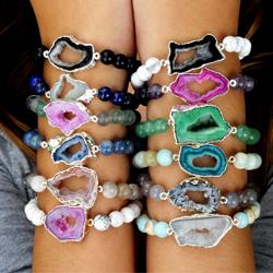 Gemstone Diffuser Bracelets